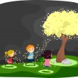 Stock Photo: Firefly Tree