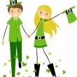 Couple in Saint Patrick's Day Costumes — Stock Photo