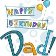 Stock Photo: Dad Birthday