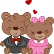 Bear Couple — Stock Photo