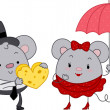 Mice Couple — Stockfoto