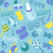 Foto Stock: Baby Boy Background