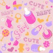 Baby Girl Background — Stock Photo