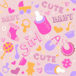 Stock Photo: Baby Girl Background