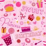 Birthday Girl Background Design — Stock Photo