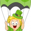 Baby Parachuting — Stock Photo