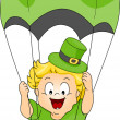 Stock Photo: Baby Parachuting