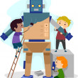 Stock Photo: Robotics Kids