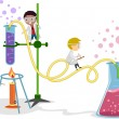 Stock Photo: Laboratory Kids