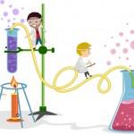 Laboratory Kids — Stock Photo