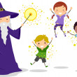Wizard Kids — Stock Photo