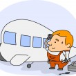 Aircraft Mechanic — Stock Photo #7477639