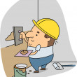 Stock Photo: Plasterer