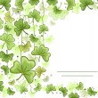 Royalty-Free Stock Photo: Card with Shamrock Design