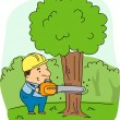 Stock Photo: Logger