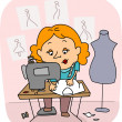 Seamstress — Stock Photo
