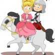 Stock Photo: Knight and Princess