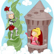 Knight Rescuing Princess — Stock Photo