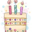 Birthday Cake - Stockfoto