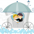 Wedding Carriage — Stock Photo #7478249