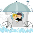 Wedding Carriage - Stock Photo