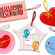 Stock Photo: Valentine Tags