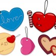 Valentine Tags — Stock Photo
