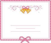 Invitation Card Bells — Stock Photo
