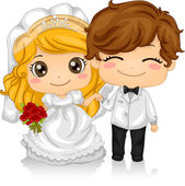 Kiddie Wedding — Stock Photo