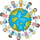 Crianças, unir as mãos — Foto Stock