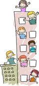 Apartment Kids — Stock Photo