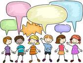 Barn talar — Stockfoto
