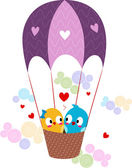 Lovebirds in a Hot Air Balloon — Stock Photo