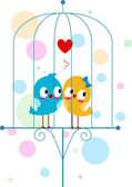 Lovebirds in a Cage — Stock Photo