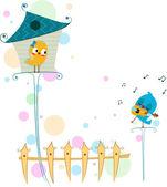 Lovebird serenade — Stockfoto