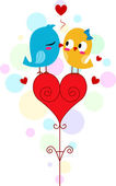 Lovebird Kiss — Stock Photo