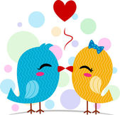 Lovebirds Kissing — Stock Photo