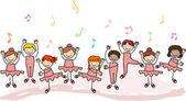 Děti cvičí balet — Stock fotografie