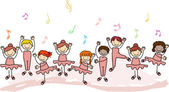 Kids Practicing Ballet — Foto de Stock