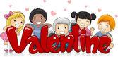 Multicultural Valentine — Stock Photo