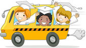 Kids School Bus — Stock Photo