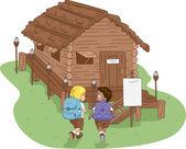 Camp Cabin — Stock Photo