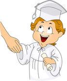 Graduation Handshake — Stock Photo