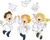 Graduates Jump — Stock Photo
