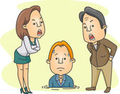 Man Being Scolded by His Bosses — Stock Photo