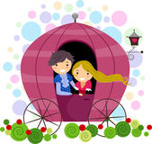 Couple in a Carriage — Stock Photo