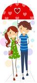 Stick Figure Couple — Stock Photo