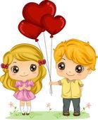 Boy Giving Balloons — Stock Photo