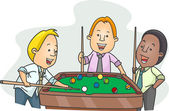 Men Playing Billiards After Work — Stock Photo