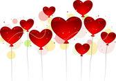 Valentine Balloons — Stock Photo